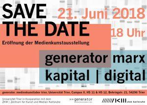 Ausstellungseröffnung »»generator 2018